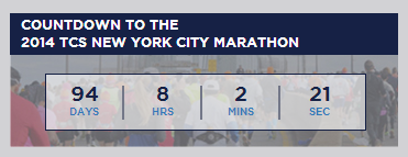 tcs new york marathon countdown