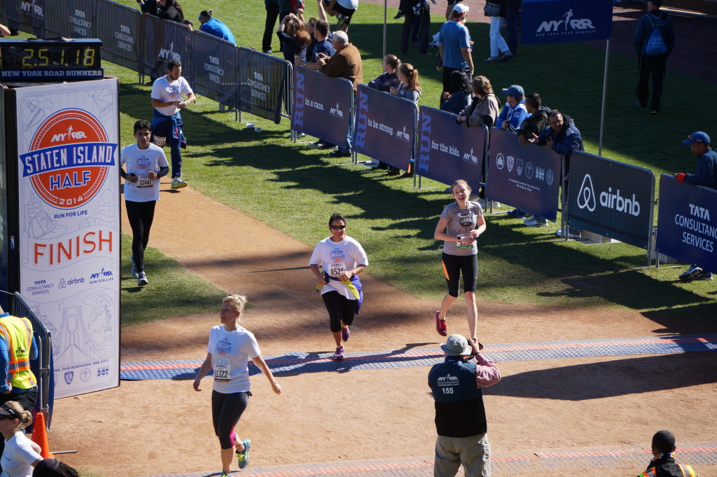 finishing the Staten Island Half