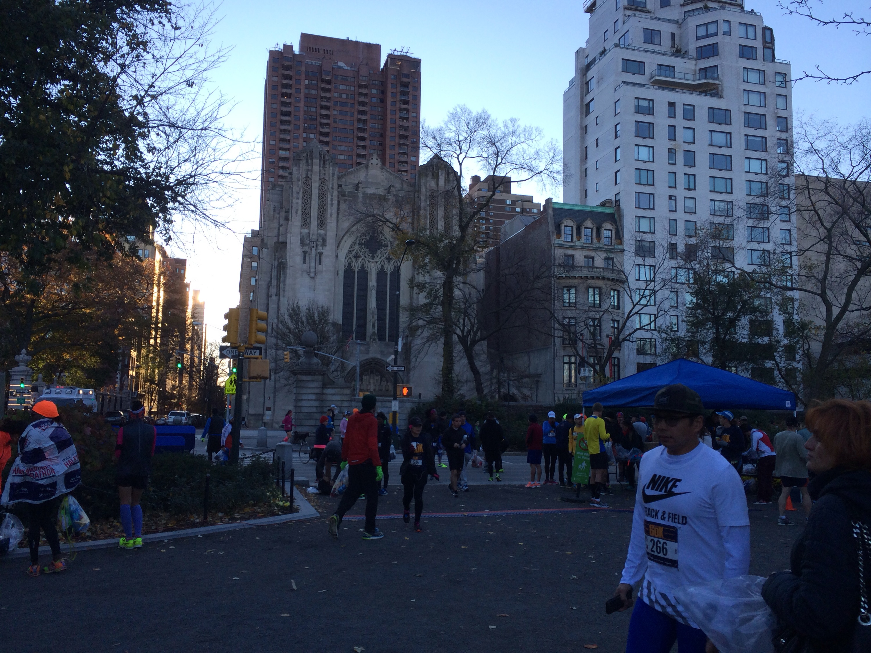 Runners getting ready for the NYC 60K, my first ultra race