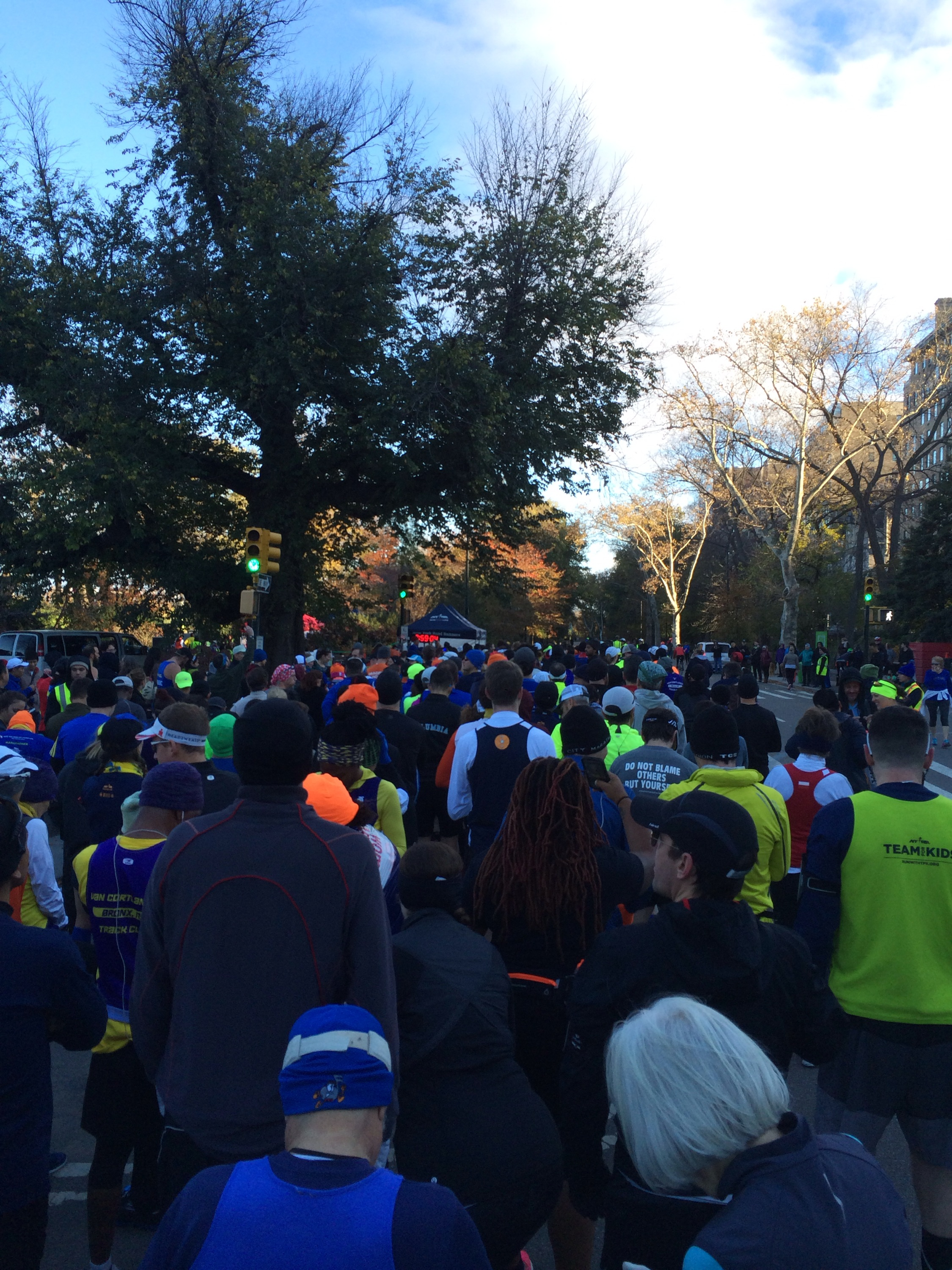 The race coral for the NYRR ultra race, my first ultra, the NYC 60K