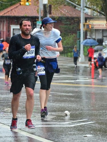 Cold and Rainy Staten Island Half Marathon 2016