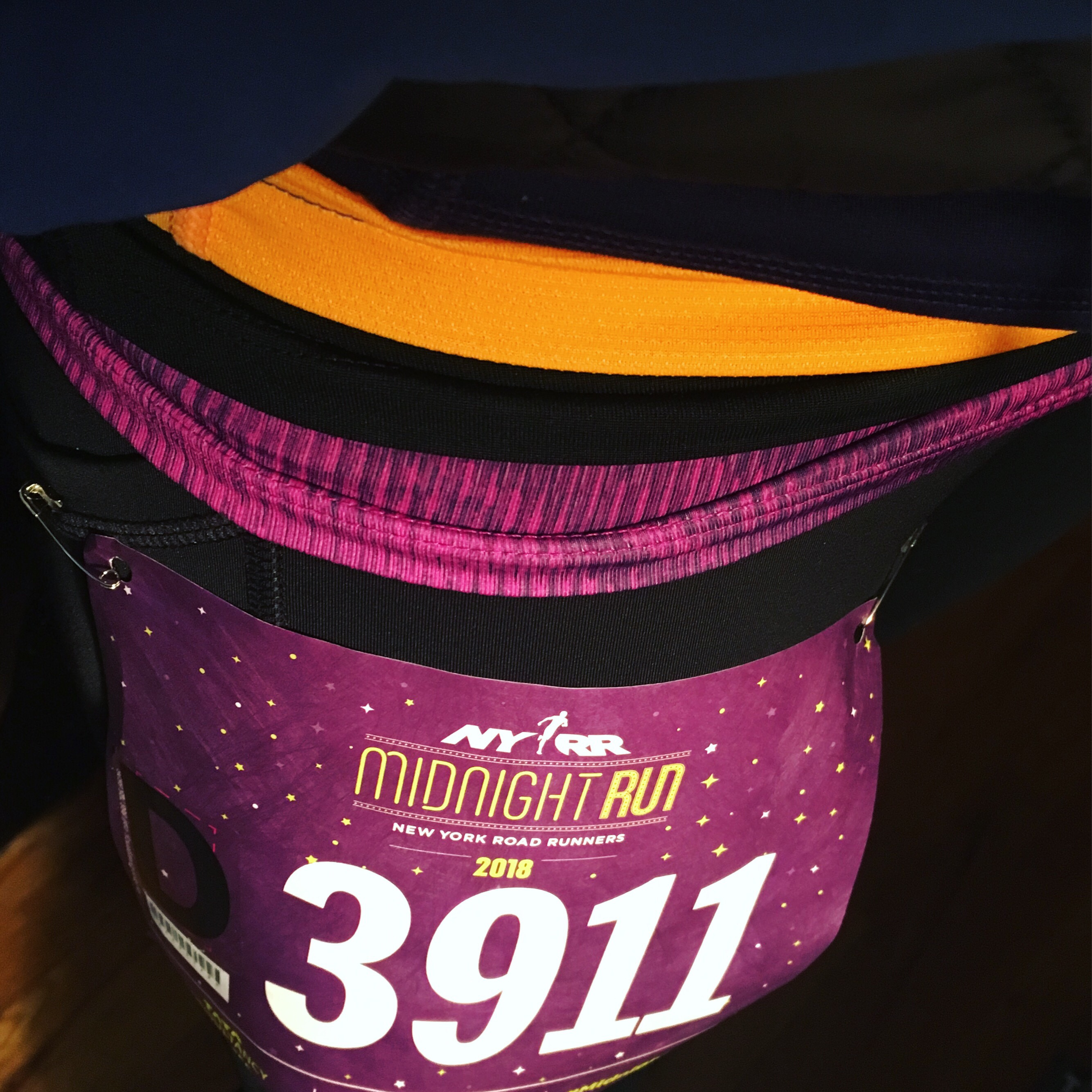 NYRR Midnight Run in the cold layers